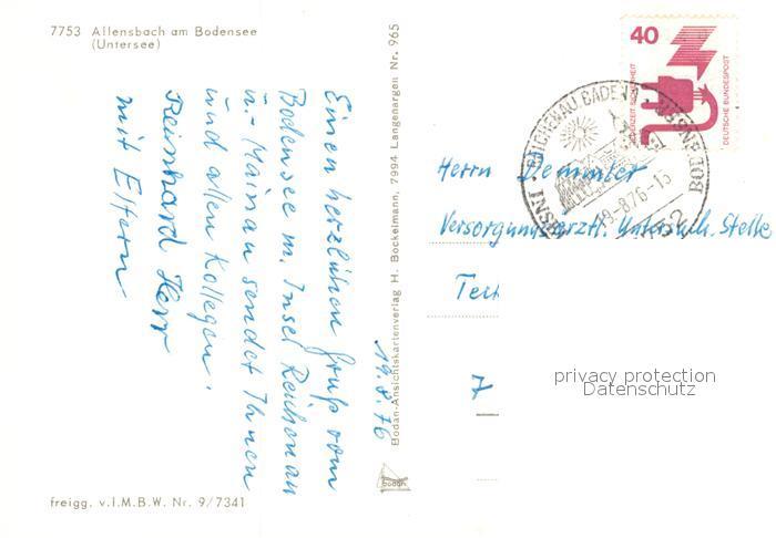 AK / Ansichtskarte Allensbach_Bodensee Untersee Insel Reichenau Konstanz Fliegeraufnahme Allensbach_Bodensee 1