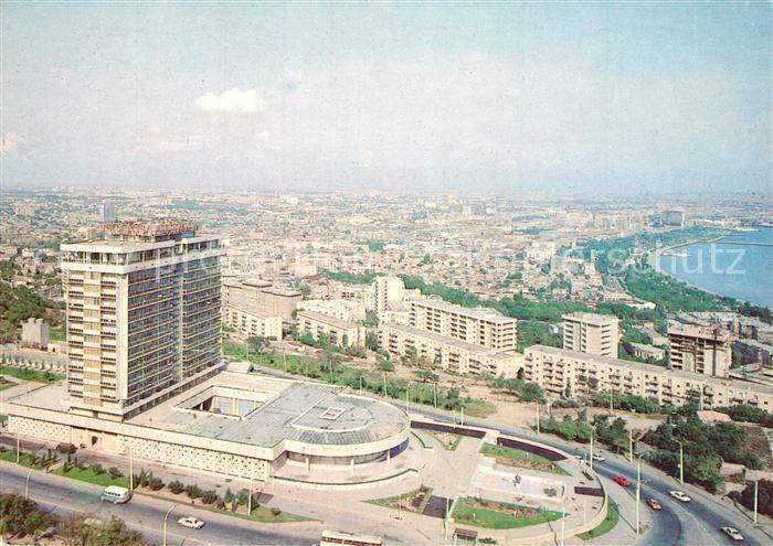 AK / Ansichtskarte Baku Hotel Moskva Stadtpanorama Baku