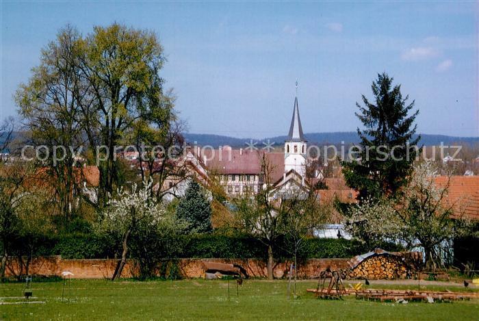 AK / Ansichtskarte Illingen_Illingen Ortsansicht mit Kirche Illingen Illingen