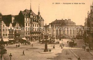 AK / Ansichtskarte Bonn_Rhein Marktplatz et Hotel de Ville Bonn_Rhein