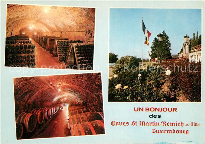 AK / Ansichtskarte Remich Caves St Martin Salles de degustation et terrasses Remich