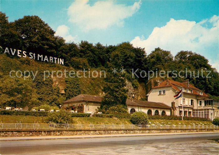 AK / Ansichtskarte Remich Caves St Martin Commerce et Champagnisation de vins Salles de degustation et terrasses Remich