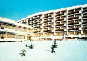 AK / Ansichtskarte Luhacovice Zotavovna ROH Hotel im Winter Luhacovice