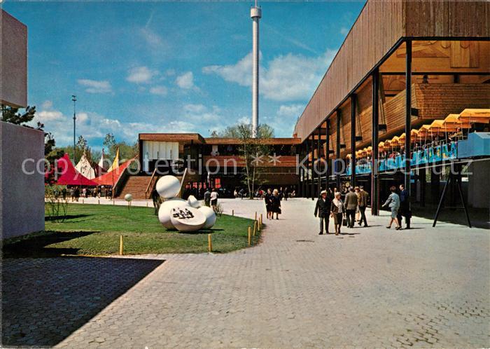 AK / Ansichtskarte Lausanne_VD Exposition nationale suisse Secteur Art de vivre Sanctuaire Lausanne VD