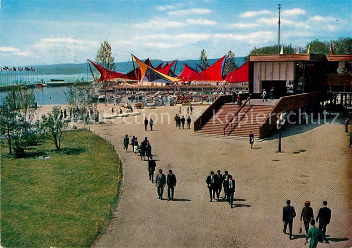 AK / Ansichtskarte Lausanne_VD Exposition nationale suisse secteur du port Lausanne VD