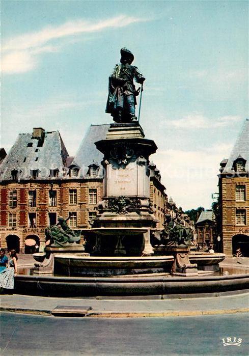 AK / Ansichtskarte Charleville Mezieres Statue de Charles de Gonzague Sculpteur A. Colle Charleville Mezieres