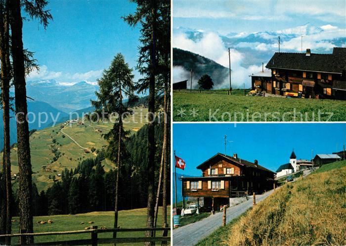 AK / Ansichtskarte Trans_Hinterrhein Gasthaus Pension Edelweis Landschaftspanorama Domleschg Alpen Trans Hinterrhein
