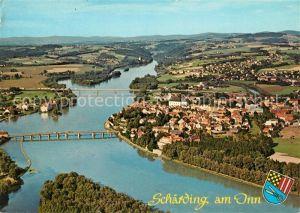 AK / Ansichtskarte Schaerding Kneippkur  und Grenzstadt Fliegeraufnahme Schaerding