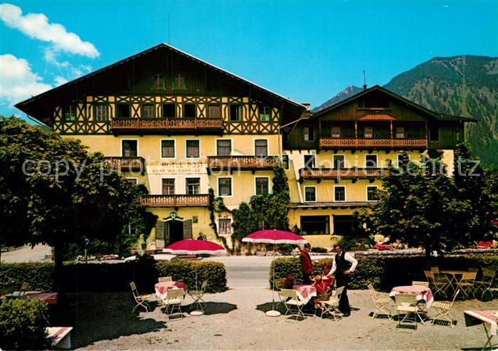 AK / Ansichtskarte Walchensee Hotel Post Walchensee