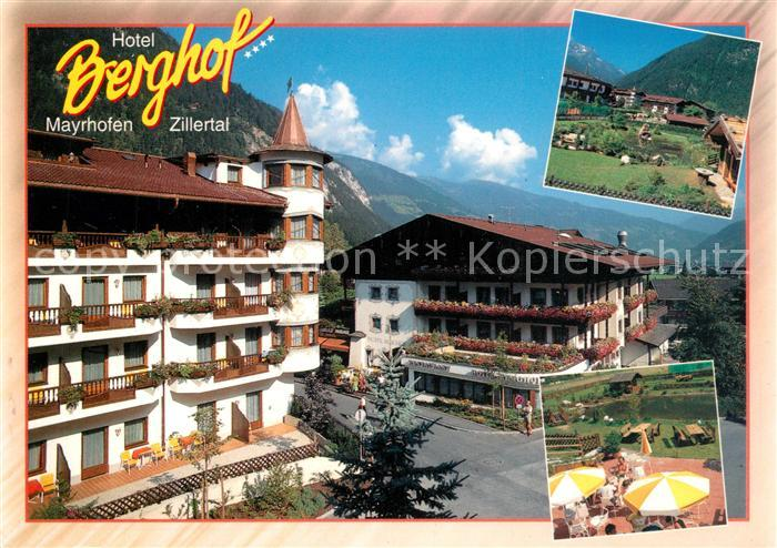 AK / Ansichtskarte Mayrhofen_Zillertal Hotel Berghof Mayrhofen_Zillertal