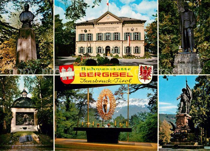 AK / Ansichtskarte Innsbruck Ruhmesstaette Bergisel Kaiser Franz Josef I Gedaechtniskapelle Innsbruck
