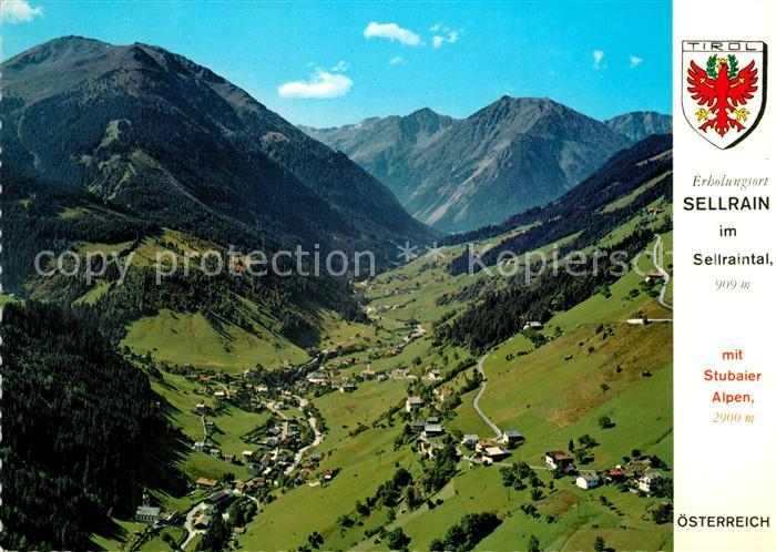 AK / Ansichtskarte Sellrain_Tirol Fliegeraufnahme Sellrain Tirol
