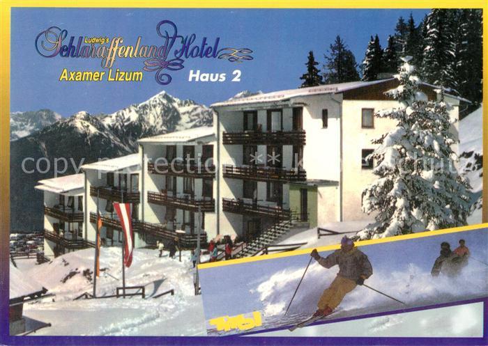 AK / Ansichtskarte Axamer_Lizum Ludwigs Schlaraffenland Hotel Haus 2 Winter Axamer Lizum