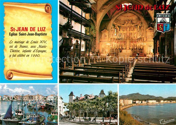 AK / Ansichtskarte Saint Jean de Luz Hafen Kirche Saint Jean Baptiste Saint Jean de Luz