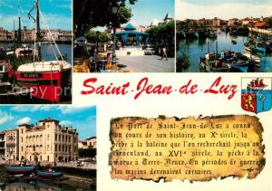 AK / Ansichtskarte Saint Jean de Luz Hafen Place Louis XIV Saint Jean de Luz