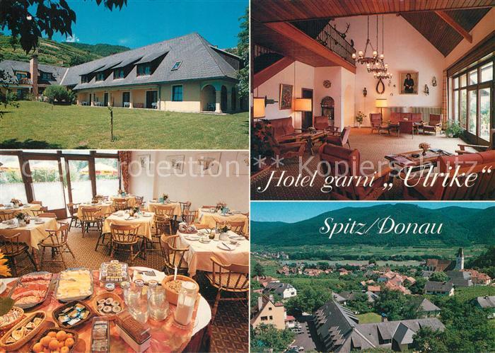 AK / Ansichtskarte Spitz_Donau Hotel garni Ulrike Restaurant Ortspanorama Spitz Donau