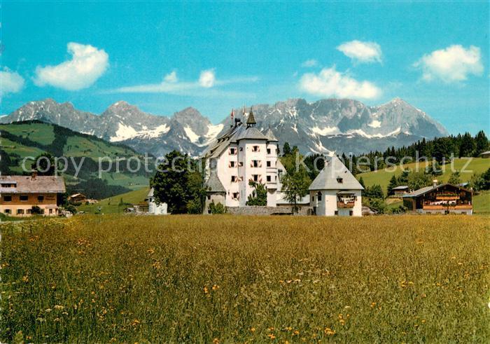 AK / Ansichtskarte Reith_Kitzbuehel Schlosshotel Muenichau gegen Wilden Kaiser Kaisergebirge Reith Kitzbuehel