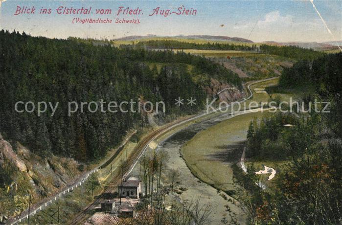 AK / Ansichtskarte Vogtlaendische_Schweiz Blick ins Elstertal vom Friedr Aug Stein Vogtlaendische Schweiz