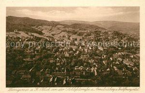 AK / Ansichtskarte Wernigerode_Harz Blick von der Schlossterrasse Armeleuteberg und Zwoelfmorgental Wernigerode Harz
