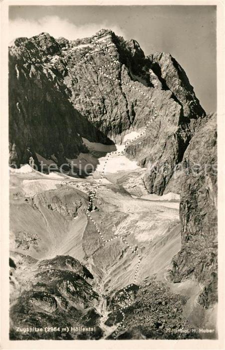 AK / Ansichtskarte Zugspitze Hoellental Zugspitze