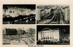 AK / Ansichtskarte Berlin Stalinallee Alexanderplatz Deutsche Staatsoper Berlin