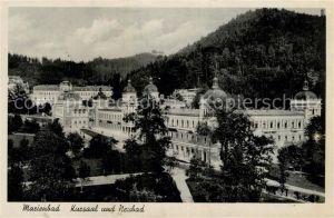 AK / Ansichtskarte Marienbad_Tschechien_Boehmen Kursaal und Neubad Marienbad_Tschechien