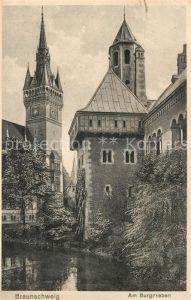 AK / Ansichtskarte Braunschweig Am Burggraben Braunschweig