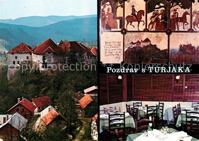 AK / Ansichtskarte Pozdrav Turjaka Panorama Gaststaette Pozdrav