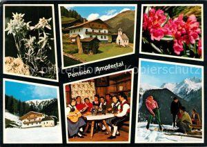 AK / Ansichtskarte St_Magdalena Pension Ampfertal Hausmusik Wintersport Alpenflora Edelweiss Alpen St_Magdalena
