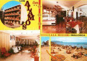 AK / Ansichtskarte Cala_Millor_Mallorca Cafeteria Los Alamos Strand Cala_Millor_Mallorca