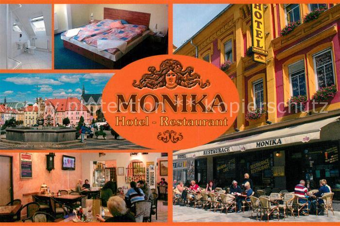Ak Ansichtskarte Chebeger Hotel Restaurant Monika Strassencafe