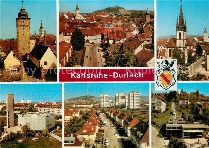 AK / Ansichtskarte Durlach Kirche Stadtansichten  Durlach