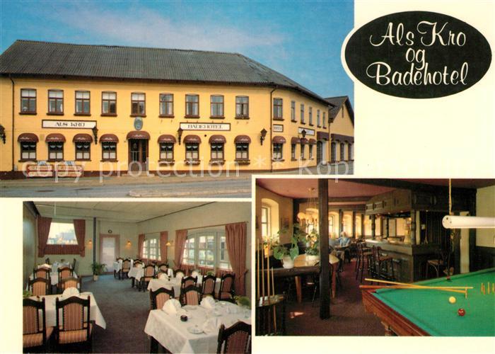 AK / Ansichtskarte Hadsund Als Kro og Badehotel Restaurant Billard Hadsund