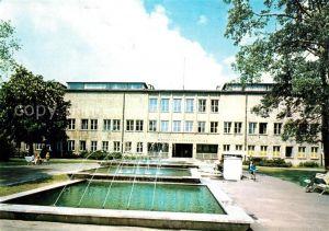 AK / Ansichtskarte Torun_Thorn Biblioteka Uniwersytecka Universitaetsbibliothek Wasserspiele Torun Thorn
