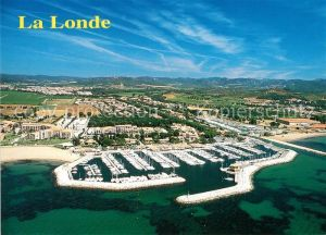 AK / Ansichtskarte La_Londe les Maures Port de Miramar vue aerienne La_Londe les Maures