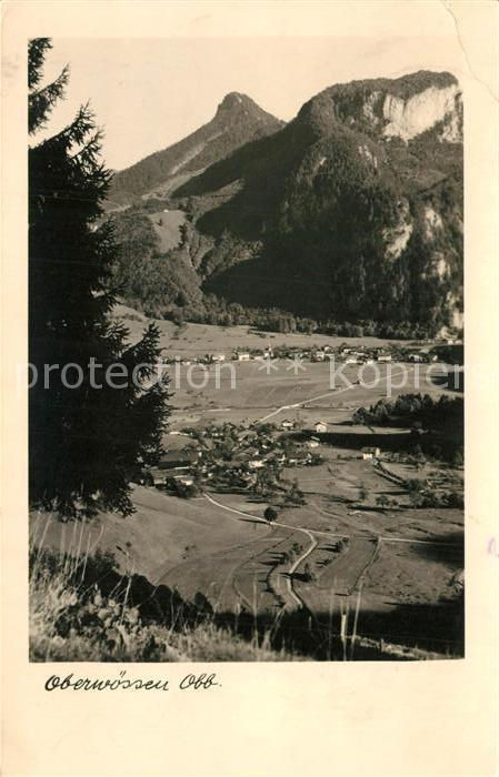 AK / Ansichtskarte Oberwoessen Panorama Blick ins Tal Alpen Oberwoessen