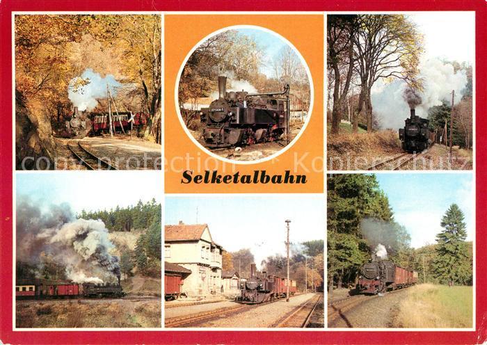 AK / Ansichtskarte Lokomotive Selketalbahn Bahnhof Alexisbad Strassberg Gernrode  Lokomotive