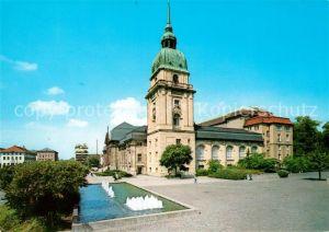 AK / Ansichtskarte Darmstadt Hessisches Landesmuseum Brunnen Darmstadt