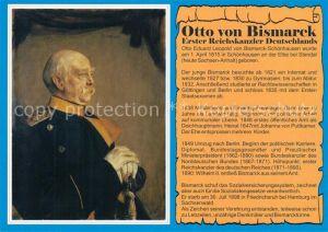 AK / Ansichtskarte Friedrichsruh_Hamburg Portrait Otto von Bismarck Friedrichsruh Hamburg