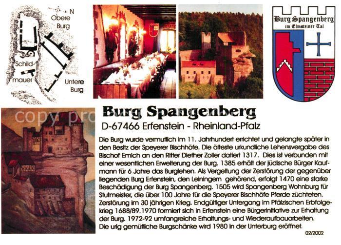 AK / Ansichtskarte Erfenstein Burg Spangenberg Wappen Festtafel Erfenstein