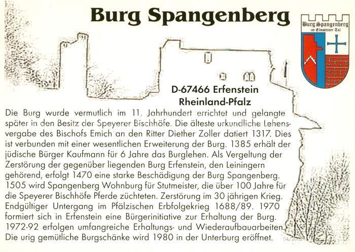 AK / Ansichtskarte Erfenstein Burg Spangenberg Erfenstein