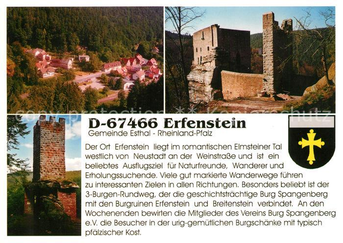 AK / Ansichtskarte Erfenstein Burg Spangenberg Burgruine Erfenstein