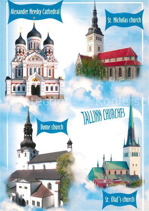 AK / Ansichtskarte Tallinn Alexander Nevsky Cathedral St Nicolas Church Dome Church St Olafs Church Tallinn
