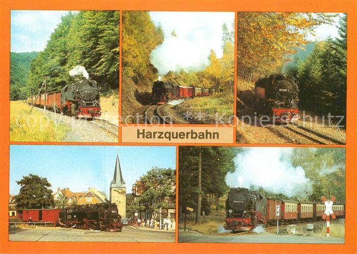 AK / Ansichtskarte Lokomotive Harzquerbahn  Lokomotive