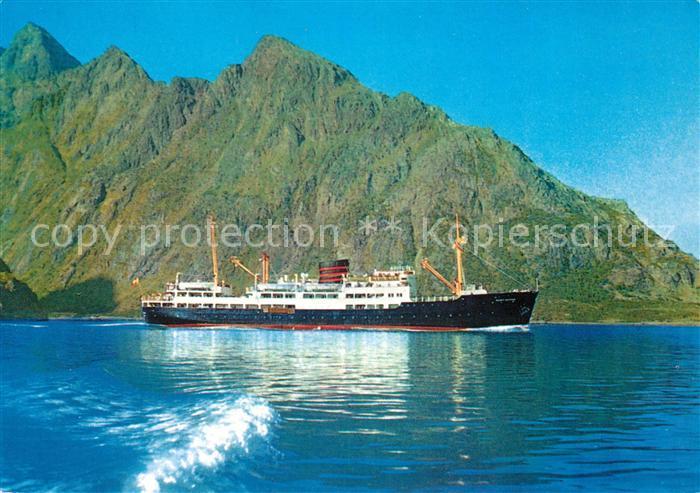 AK / Ansichtskarte Schiffe_Ships_Navires M S Sanct Svithun Raftsund  Schiffe_Ships_Navires
