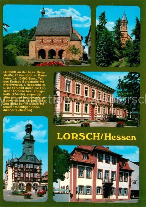AK / Ansichtskarte Lorsch_Hessen Koenigshalle Kloster Rathaus Lorsch Hessen