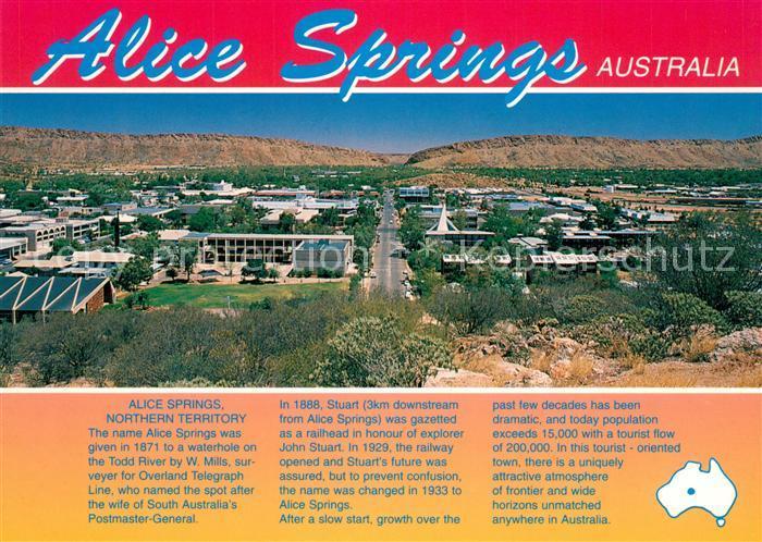 AK / Ansichtskarte Alice_Springs Panorama Alice Springs