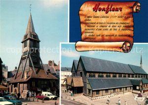 AK / Ansichtskarte Honfleur Eglise Sainte Catherine et son clocher isole Honfleur