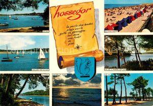 AK / Ansichtskarte Hossegor_Soorts_Landes Le Lac Plage Oceane Le Canal Travers les Pins  Hossegor_Soorts_Landes