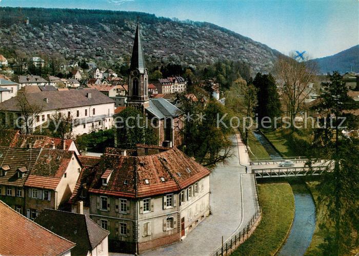AK / Ansichtskarte Ettlingen Stadtbild mit Kirche Ettlingen